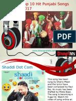 Top Ten Hit Punjabi Songs 2017