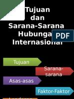 Tujuan Dan Sarana-Sarana Hubungan Internasional