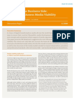 Indicators to Assess Media Viability