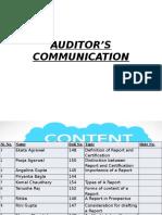 Auditor's Communication