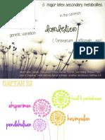 Dandelion - Latex Secondary Metabolite (Elisa 11213007_ Ivana 11213024)