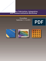 NNI Sensor Fabrication, Integration, And Commercialization Workshop - Report