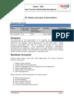 KT_SAP CRM_Sales Force Automation