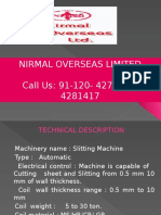 Slitting Machine manufacturer in Noida