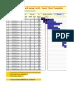 Gantt Chart Project Management Template