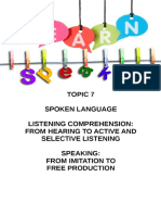 7 Listening and Speaking New Edition