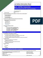 FDS - SUP705 - Polymérisé