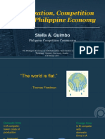 Globalization, Competition and the Philippine Economy