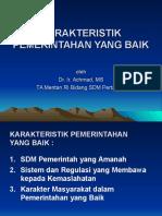 Karakteristik Pemerintahan Yang Baik Agst07