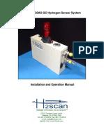 h2scan 720as-Gc Hydrogen Sensor System Manual