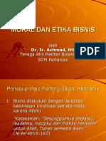Moral Dan Etika Bisnis Okt07 Tayang