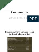 Zakat Exercises