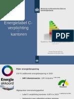 Presentatie RVO Energielabel C- Verplichting VastgoedJournaal 15-2-2017