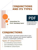 Conjunctions and Its Types
