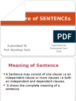 Structure of SENTENCE