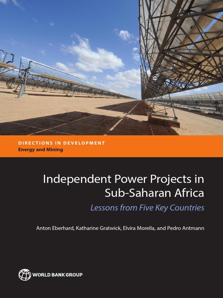 IPPs in Sub saharan Africa bookpdf Power