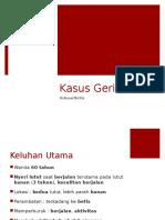 Case Presentation Puskesmas Suradita 2014 - Geriatri