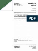 NBR 5356 - 2007 - Transformadores de Potência - Parte 3 - Ní