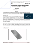 Effect of inclination interrupted fin arrays with isoflux on convection heat transfer