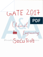 Gate 2017 Chemical Engineering Complete Solutions
