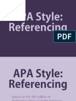 EAPP—APA Referencing Part I