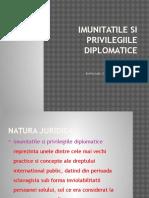 Imunitatile Si Privilegiile Diplomatice