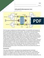 Field Balancing an Integrally Geared Turbocompressor Rotor