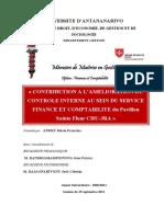 AMEL Ctrl Int Sce Financ Et Compta SAINTE FLEUR