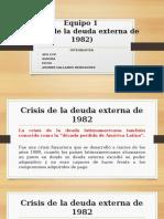 Crisis de La Deuda Externa 1982