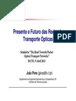 Presente e Futuro das Redes de Transporte Ópticas