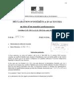 La déclaration d'intérêts et d'activités de Benoit Hamon