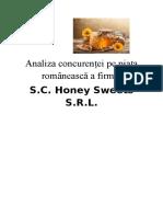 Analiza Concurenței Pe Piața Romanească a Firmei