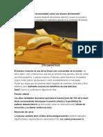 Por Qué Es Recomendable Comer Una Banana Diariamente