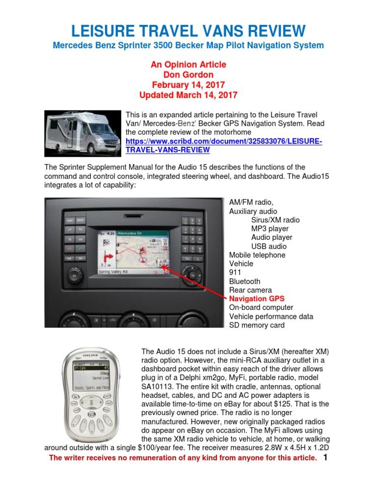 Becker Map Pilot Navigation System Mercedes Benz Sprinter Radio - Register becker map pilot us