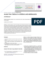 Acute Liver Failure in Children and Adolescents 2012 Clinics and Research in Hepatology and Gastroenterology