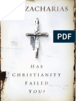 Has Christianity Failed You, by Ravi Zacharias Excerpt