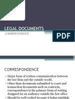 LEGAL DOCUMENTS Correspondence