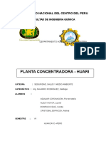 Seguridad Planta Concentradora HUARI