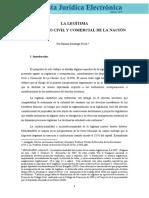 La Legítima en El Código Civil y Comercial de La Nación