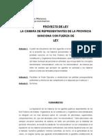 Proyecto de Ley autor