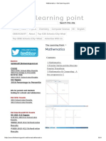 Mathematics - The Learning Point