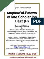 En 30 Majmoo AlFatawa IbnBaz