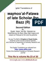 En 23 Majmoo AlFatawa IbnBaz