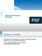 Simple Granulation Example