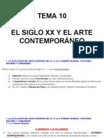 Tema 10- El Siglo Xx y El Arte Contemporaneo 1a Parte