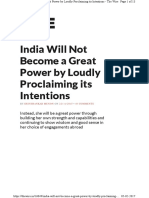 India Will Not Become a Great Power By