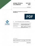 NTC ISO 9001 2015