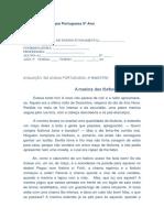 Avaliação Em Língua Portuguesa 5º Ano