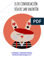 Tarjetas Conversacion San Valentin