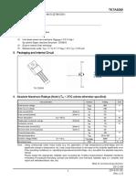 TK7A60W Datasheet en 20140105